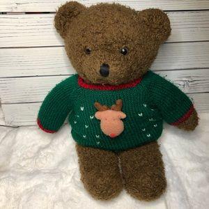 Vintage 1990s Christmas sweater teddy bear medium